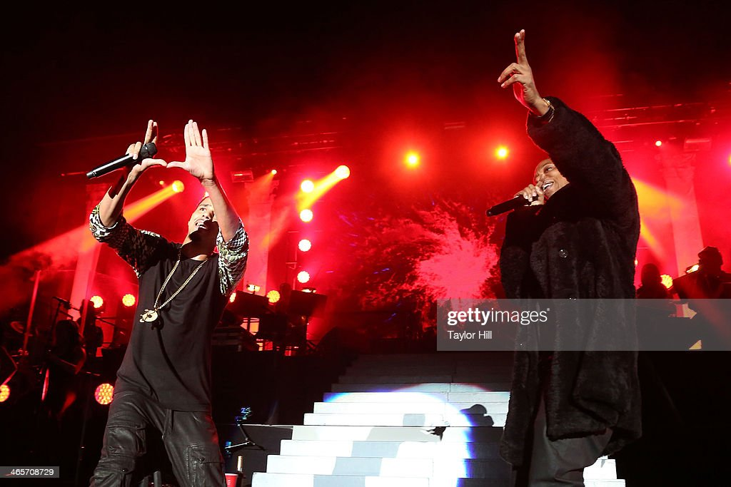 Rappers J Cole And Jay Z Perform In Concert At Madison Square Garden On  January 28