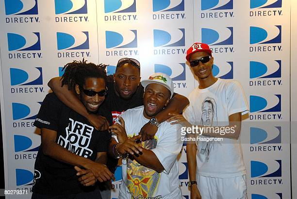 Rappers Jammer, Chrome, Footsie and D.Double.E pose backstage at the DirecTV SXSW Live Broadcast on March 14, 2008 at the Austin Convention Center in...
