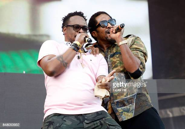 Rappers Jarobi White and QTip of A Tribe Called Quest perform onstage during Day 2 at The Meadows Music Arts Festival at Citi Field on September 16...