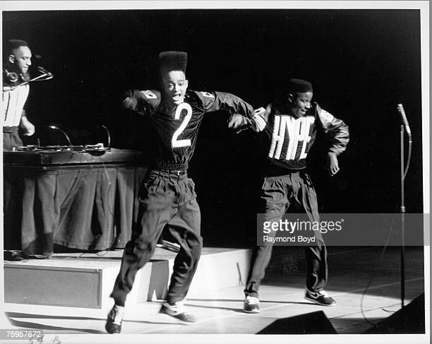Rappers Kid 'n Play perform onstage at the Arie Crown Theater in on August 7 1989 in Chicago Illinois