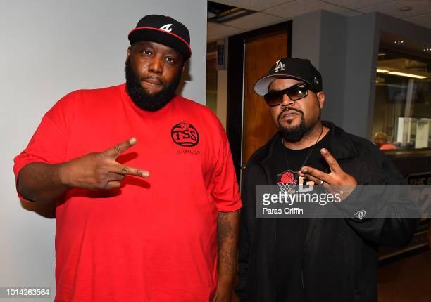 Rappers Killer Mike and Ice Cube visit V103 Atlanta Studios at Entercom Atlanta Studio on August 9 2018 in Atlanta Georgia