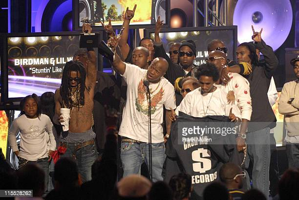 Rappers Lil Wayne and Birdman accept the Alltell Wireless People's Champ Award during the BET Hip Hop Awards 2007 at the Atlanta Civic Center on...