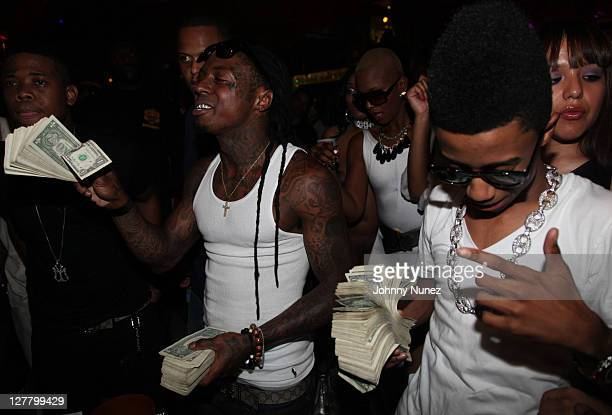 Rappers Lil Wayne and Lil Twist attend Worldstarhiphop 6 Year Anniversary at King of Diamonds on May 27 2011 in Miami Florida