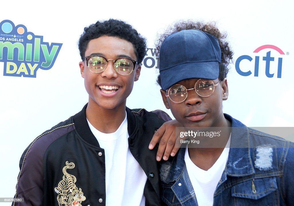 Rappers Luh Kel and Kidda of 2 Exclusive attend T.J. Martell Foundation Family Day at The Grove on October 7, 2017 in Los Angeles, California.
