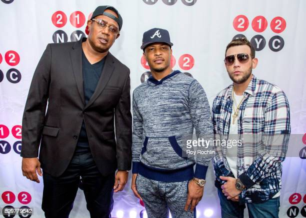 Rappers Master P Messiah El Artista and TI attend the 9th Annual 212NYC Summer Party at Pier 16 on August 10 2017 in New York City