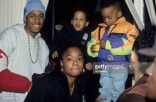 Rappers MC Shan and Roxanne Shante appear in a portrait taken on January 10, 1991 in New York City.