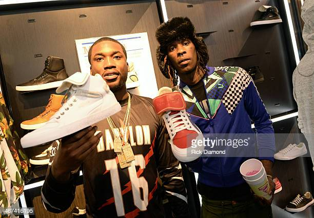 Rappers Meek Mill and Young Thug make a special appearance at The PUMA Lab Powered by Foot Locker at Foot Locker at the Gallery at South Dekalb Mall...