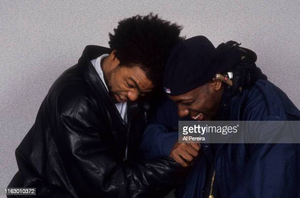 Rappers Method Man and Inspectah Deck of the WuTang Clan pose for a portrait on April 1 1994 in New York City New York