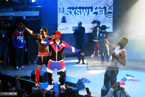 Rappers peform onstage at DNES Marketing during the 2019 SXSW Conference and Festivals at Stubbs on March 16 2019 in Austin Texas