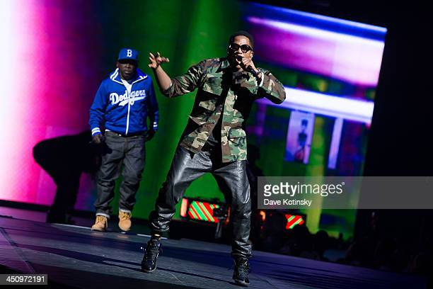 Rappers Phife Dawg and QTip of A Tribe Called Quest perform at Barclays Center on November 20 2013 in New York City