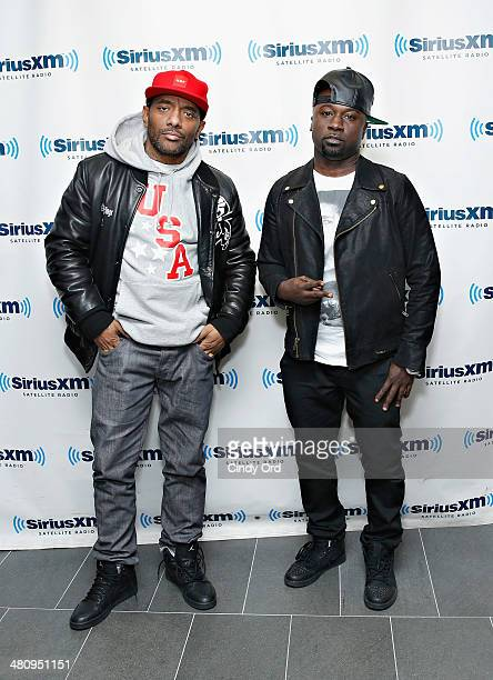 Rappers Prodigy and Havoc of Mobb Deep visit the SiriusXM Studios on March 27 2014 in New York City