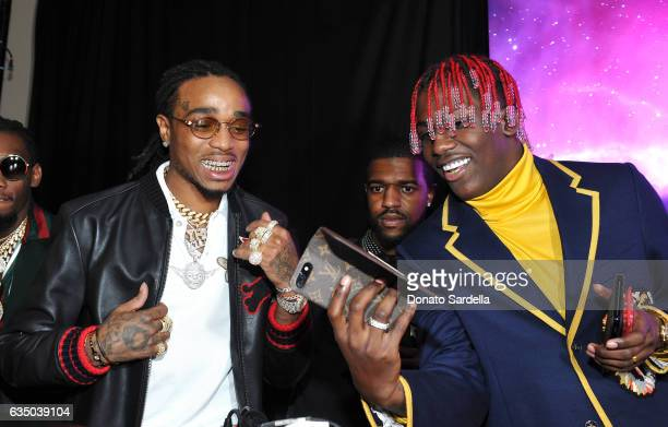 Rappers Quavo and Lil Yachty attend GQ and Chance The Rapper Celebrate the Grammys in Partnership with YouTube at Chateau Marmont on February 12 2017...