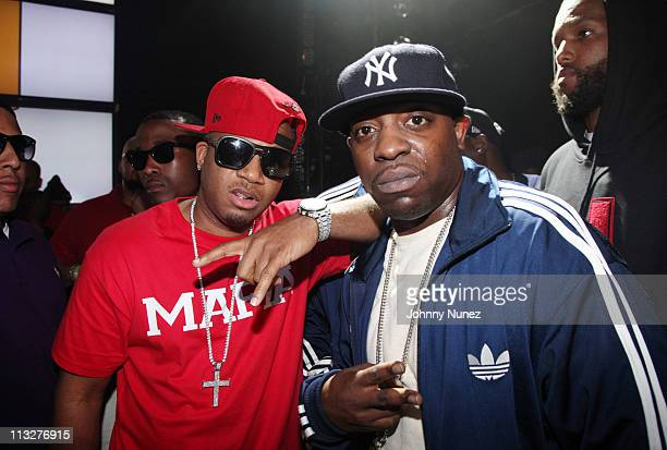 Rappers Red Cafe and Uncle Murda attend DJ Prostyle's Celebrity Birthday Bash at Webster Hall on April 28 2011 in New York City