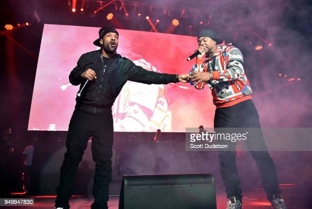 Rappers Redman and Method Man of Wu Tang Clan perform onstage during the KDay 935 Krush Groove concert at The Forum on April 21 2018 in Inglewood...