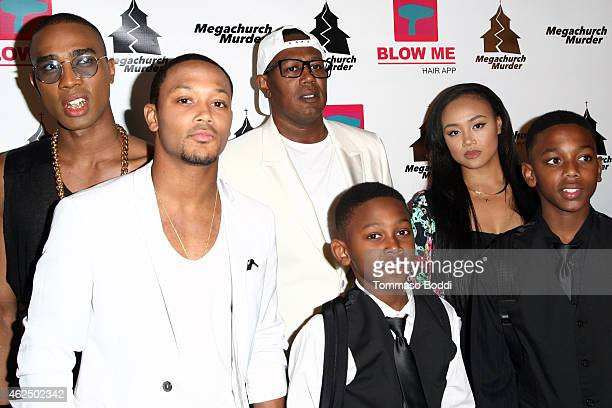 """Rappers Romeo Miller aka Lil Romeo , Master P and family attend the Lifetime Television's """"Megachurch Murder"""" premiere screening held at the Harmony..."""