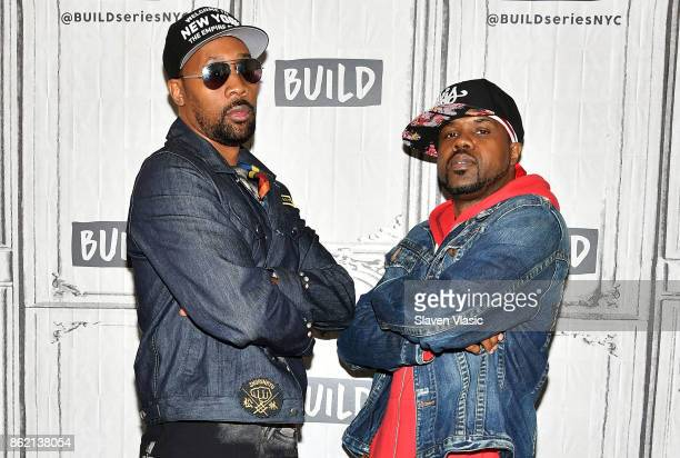 Rappers RZA and DJ Mathematics visit Build to discuss 'WuTang The Saga Continues' at Build Studio on October 16 2017 in New York City