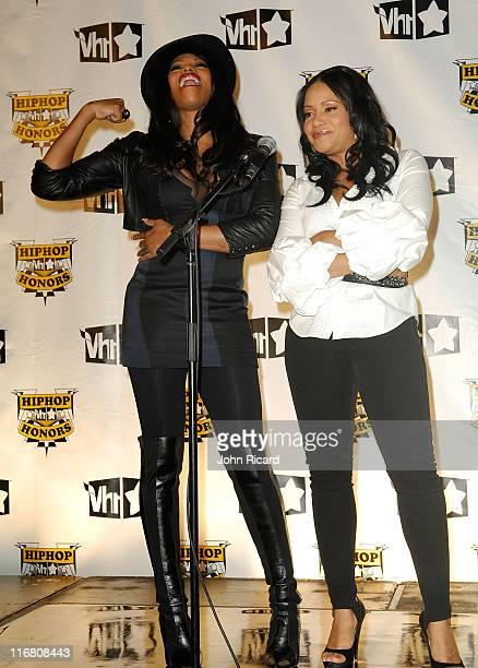 Rappers Sandra Pepa Denton and Cheryl Salt James of SaltNPepa in the press room at the 2007 Vh1 Hip Hop Honors at Hammerstein Ballroom on October 4...