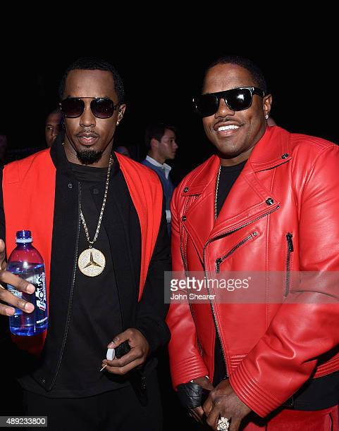 Rappers Sean 'Puff Daddy' Combs and Mase attend the 2015 iHeartRadio Music Festival at MGM Grand Garden Arena on September 19 2015 in Las Vegas Nevada