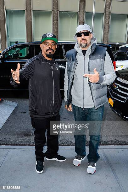 Rappers Sen Dog and BReal of Cypress Hill enter the Sirius XM Studios on October 28 2016 in New York City