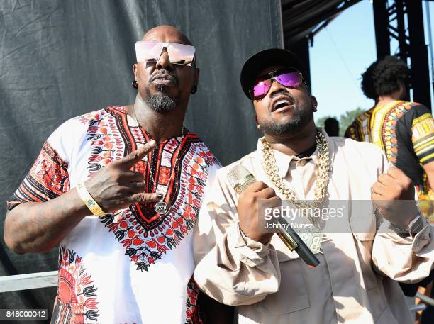 Rappers Sleepy Brown and Big Boi pose backstage during the Meadows Music and Arts Festival Day 2 at Citi Field on September 16 2017 in New York City