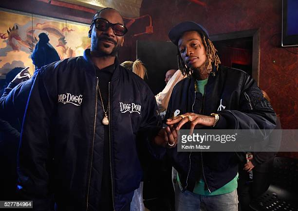 Rappers Snoop Dogg and Wiz Khalifa attend the 2nd Annual National Concert Day presented by Live Nation at Irving Plaza on May 3 2016 in New York City