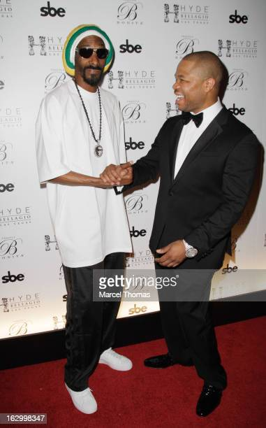 Rappers Snoop Lion and Xzibit attend the launch party for Bonita Platinum Tequila at Hyde Bellagio at the Bellagio on March 2 2013 in Las Vegas Nevada