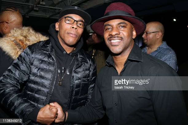 Rappers Solitair and Maestro Fresh Wes attend the Maestro Fresh Wes Champagne Campaign Album Listening Party at the Broadview Hotel on March 1, 2019...