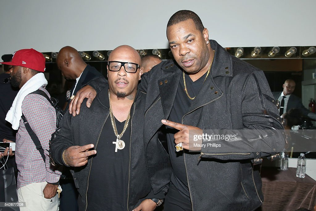 Rappers Spliff Star (L) and Busta Rhymes attend the 2016 ASCAP Rhythm & Soul Awards at the Beverly Wilshire Four Seasons Hotel on June 23, 2016 in Beverly Hills, California.