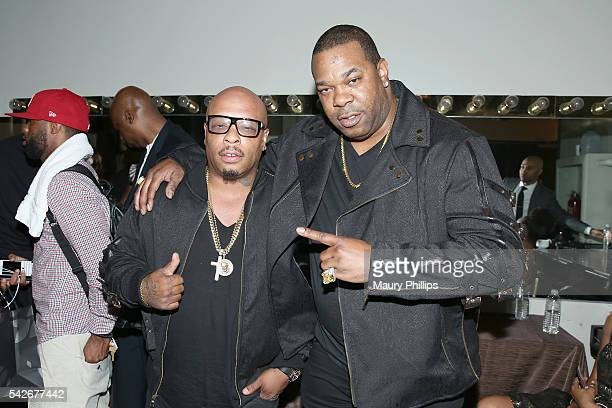 Rappers Spliff Star and Busta Rhymes attend the 2016 ASCAP Rhythm Soul Awards at the Beverly Wilshire Four Seasons Hotel on June 23 2016 in Beverly...