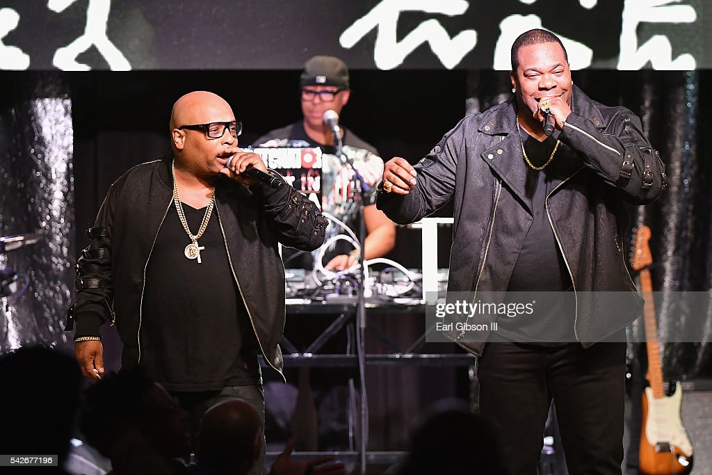 Rappers Spliff Star (L) and Busta Rhymes perform onstage at the 2016 ASCAP Rhythm & Soul Awards at the Beverly Wilshire Four Seasons Hotel on June 23, 2016 in Beverly Hills, California.