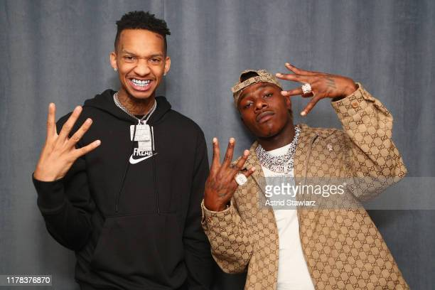 Rappers Stunna 4 Vegas and DaBaby visit the SiriusXM studios on October 01 2019 in New York City