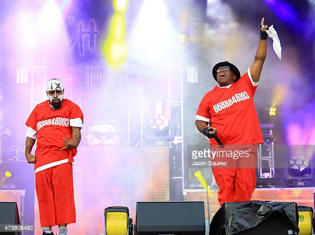 Rappers Tech N9ne and Krizz Kaliko perform at MAPFRE Stadium on May 17 2015 in Columbus Ohio