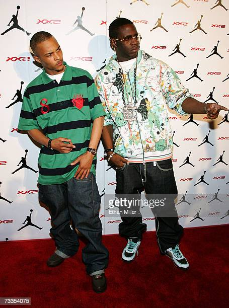 Rappers TI and Young Dro arrive to the celebration for Jordan Brand s launch  of the Air 07e3e61008