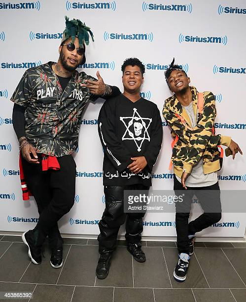 Rappers TM88 ILoveMakonnen and Metro Boomin visit the SiriusXM Studios on August 20 2014 in New York City
