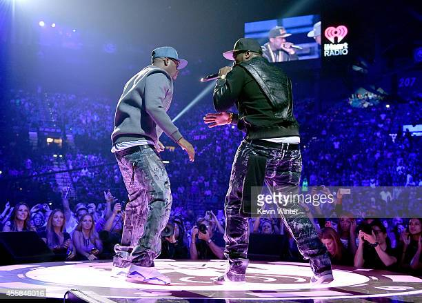 Rappers Tony Yayo and 50 Cent perform onstage during the 2014 iHeartRadio Music Festival at the MGM Grand Garden Arena on September 20 2014 in Las...