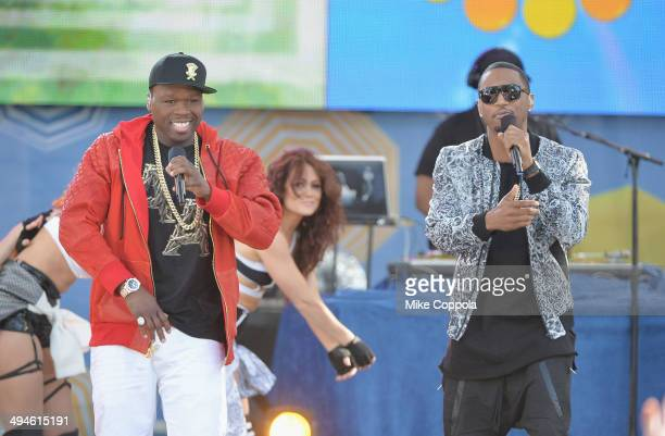 Rappers Trey Songz ad Curtis 50 Cent Jackson perform at Rumsey Playfield on May 30 2014 in New York City