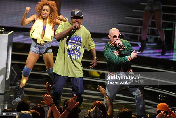 Rappers Trick Daddy and Pitbull perform onstage at the 2010 Vh1 Hip Hop Honors at Hammerstein Ballroom on June 3 2010 in New York City