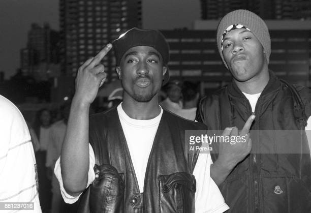 Rappers Tupac Shakur and Redman pose for a portrait at Club Amazon on July 23 1993 in New York New York