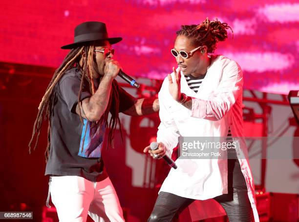 Rappers Ty Dolla Sign and Future perform on the Coachella Stage during day 2 of the Coachella Valley Music And Arts Festival at the Empire Polo Club...