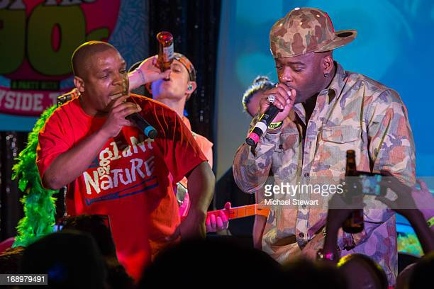 Rappers Vin Rock and Treach of Naughty by Nature perform at the Canal Room on May 17 2013 in New York City