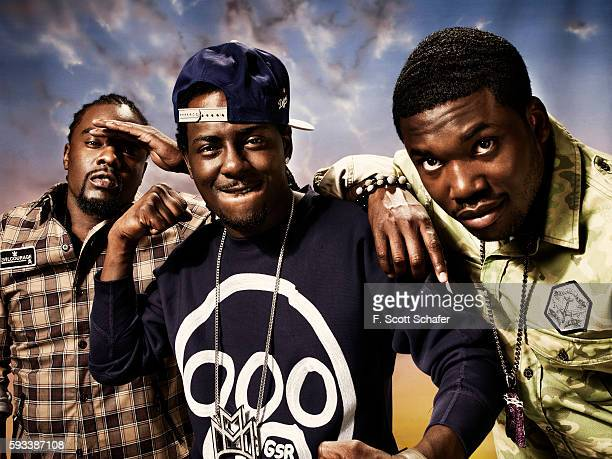 Rappers Wale Pill and Meek Mill are photographed for Complex Magazine on April 11 2011 in New York City PUBLISHED IMAGE
