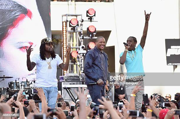 Rappers Wale YG and Rich Homie Quan perform at Revolt Live Hosts Exclusive 'Furious 7' Takeover with Musical Performances From the Official Motion...