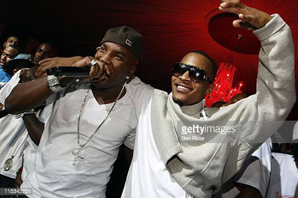 """Rappers Young Jeezy and T.I. Perform at the """"Welcome to Atlanta Jam"""" BET Hip-Hop Awards Kick-off Party at The Velvet Room on October 11, 2007 in..."""