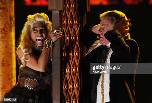 Rapper/singer Nicki Minaj performs onstage at the 54th Annual GRAMMY Awards held at Staples Center on February 12 2012 in Los Angeles California
