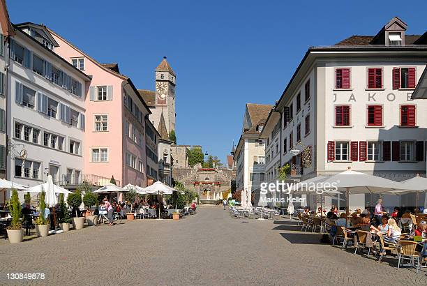 Rapperswil - the market square - canton of St. Gallen, Switzerland, Europe.