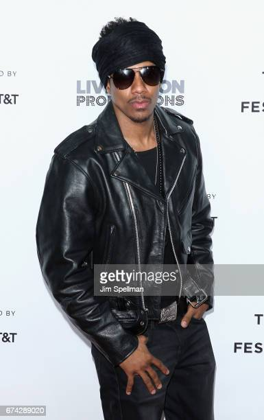 Rapper/TV personality Nick Cannon attends the world premiere of 'Can't Stop Won't Stop A Bad Boy Story' cosupported by Deleon Tequila during the 2017...