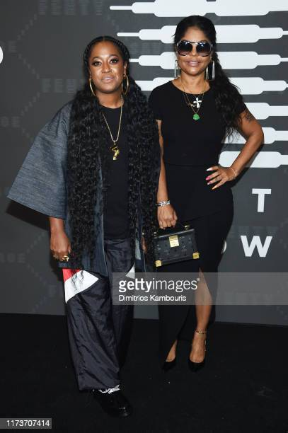 Rapsody and Misa Hylton attend Savage X Fenty Show Presented By Amazon Prime Video Arrivals at Barclays Center on September 10 2019 in Brooklyn New...