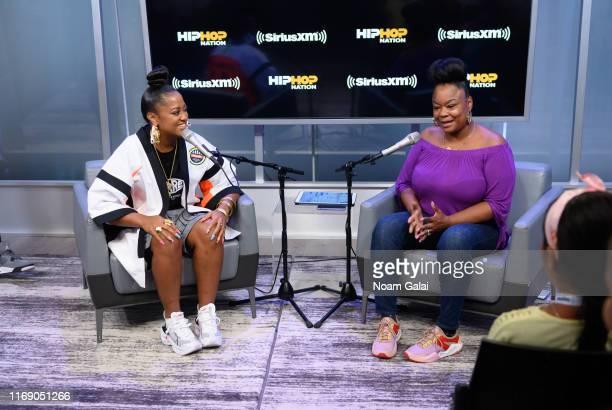 Rapsody and Roxanne Shante attend 'SiriusXM + Pandora Present: Rapsody' on Hip Hop Nation on August 19, 2019 in New York City.