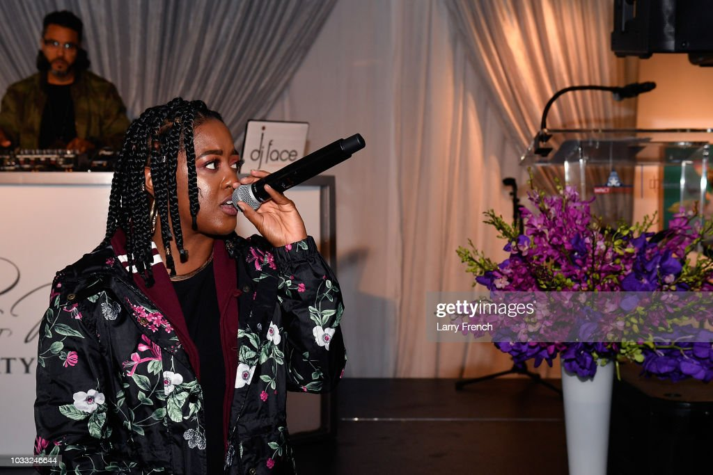 Rapsody performs at IMPACT Strategies and D&P Creative Strategies Tech & Media day party and brunch at Longview Gallery on September 14, 2018 in Washington, DC.