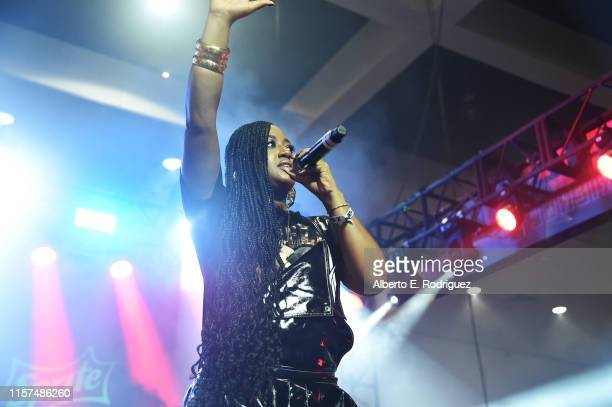 Rapsody performs onstage at the 2019 BET Experience DJ Hed Presents Kicksperience Sponsored by Sprite at Los Angeles Convention Center on June 21...